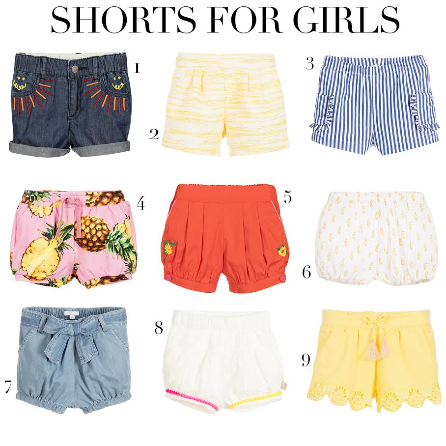 334d91b698ad4a Summer essential  Colorful shorts for baby girls - Prêt à Pregnant