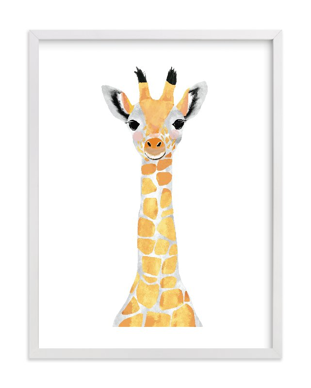 We are in love with this giraffe print from Minted!